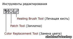 Панель инструментов в Photoshop.